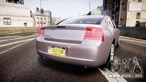 Dodge Charger Police Unmarked [ELS] para GTA 4 Vista posterior izquierda