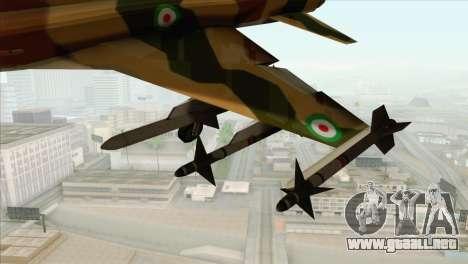Northrop F-5ES IRIAF para la visión correcta GTA San Andreas