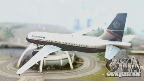 Airbus A320-200 British Airways para GTA San Andreas left
