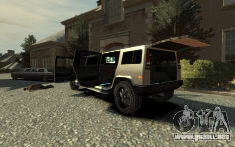 Mammoth Patriot Limousine para GTA 4 vista interior