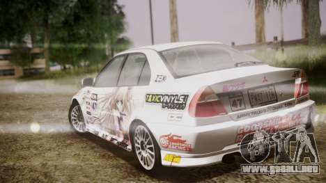 Mitsubishi Lancer Evolution VI 1999 PJ para vista lateral GTA San Andreas