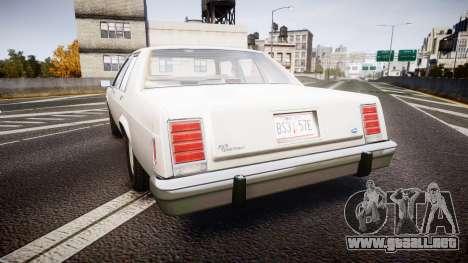 Ford LTD Crown Victoria 1987 Detective [ELS] v2 para GTA 4 Vista posterior izquierda