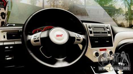 Subaru Impreza WRX STI Stance para vista lateral GTA San Andreas