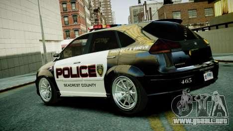 Subaru Impreza WRX STI Police para GTA 4 left