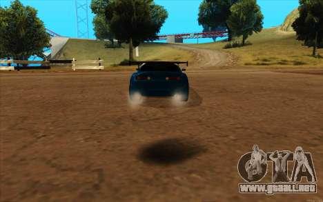 Toyota Supra Blue Robot para GTA San Andreas left