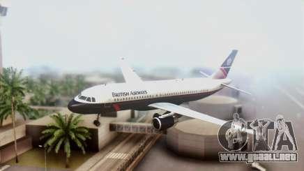Airbus A320-200 British Airways para GTA San Andreas