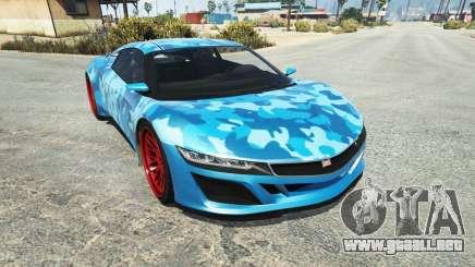 Dinka Jester (Racecar) Camo Blue para GTA 5