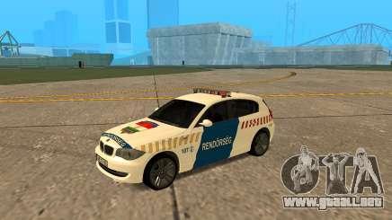 BMW 120i E87 Policía húngara para GTA San Andreas