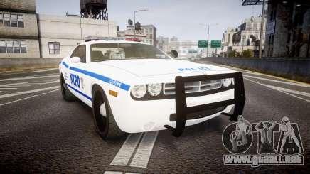 Dodge Challenger NYPD [ELS] para GTA 4