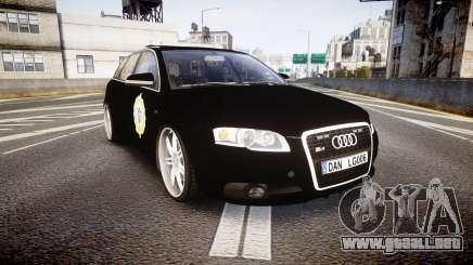 Audi S4 Avant Serbian Police [ELS] para GTA 4