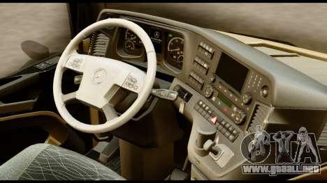 Mercedes-Benz Actros MP4 4x2 Standart Interior para la visión correcta GTA San Andreas