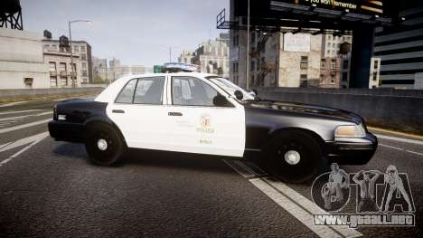 Ford Crown Victoria 2011 LAPD [ELS] rims2 para GTA 4 left
