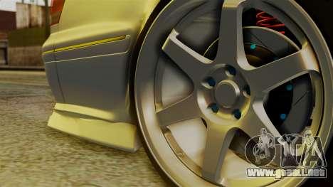 Toyota Mark 2 100 para GTA San Andreas vista posterior izquierda