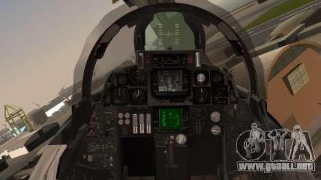 F-14B Bombcat VF-11 Red Rippers para GTA San Andreas vista hacia atrás
