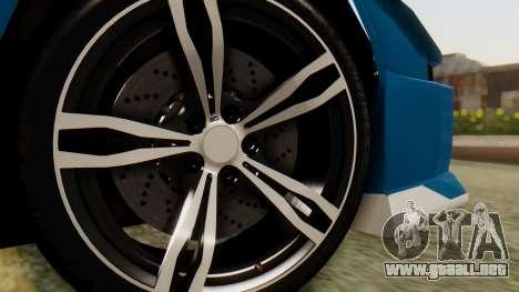 Infernus BMW Revolution para GTA San Andreas vista posterior izquierda