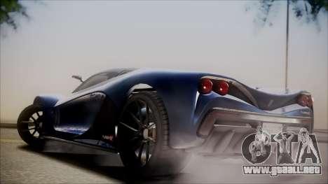 GTA 5 Grotti Turismo R SA Style para GTA San Andreas vista hacia atrás