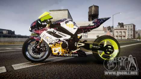 Triumph Daytona 675R Turbo Ken Block para GTA 4 left