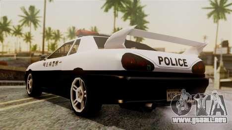 Elegy Saitama Prefectural Police para GTA San Andreas left