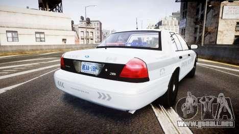 Ford Crown Victoria Bohan Police [ELS] unmarked para GTA 4 Vista posterior izquierda