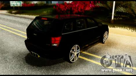 Jeep Grand Cherokee SRT8 Restyling M Final para GTA San Andreas vista posterior izquierda