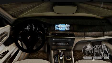 BMW 7 Series F02 2012 para la visión correcta GTA San Andreas