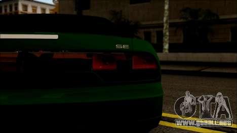 Nissan 240SX S13 para GTA San Andreas vista hacia atrás