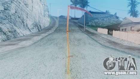 Red Dead Redemption Scythe para GTA San Andreas segunda pantalla