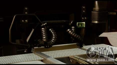 Mercedes-Benz Actros MP4 4x2 Standart Interior para GTA San Andreas vista hacia atrás
