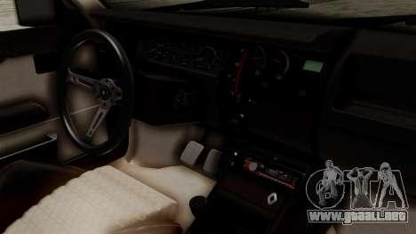 Renault 11 Turbo para la visión correcta GTA San Andreas
