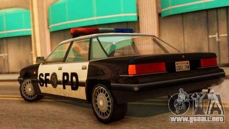 Police SF Intruder para GTA San Andreas left