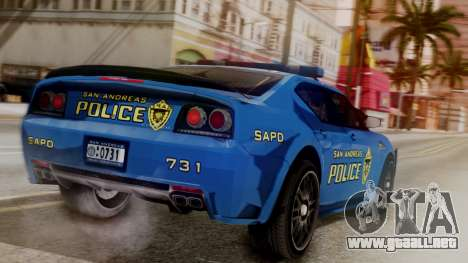 Hunter Citizen SAPD IVF para GTA San Andreas left