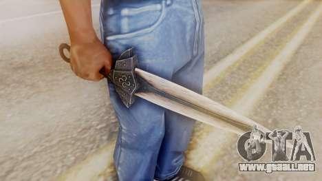 Dragon Dagger para GTA San Andreas segunda pantalla