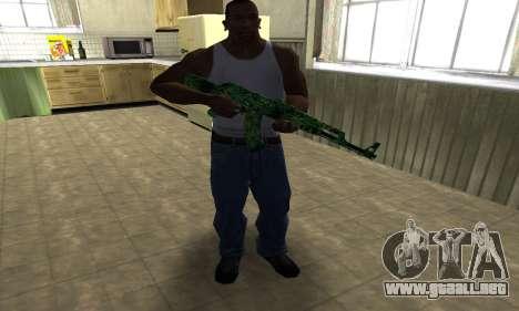 Ganja АК-47 para GTA San Andreas tercera pantalla