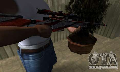 Red Flag Sniper Rifle para GTA San Andreas segunda pantalla
