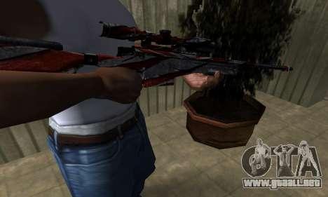 Red Flag Sniper Rifle para GTA San Andreas segunda pantalla