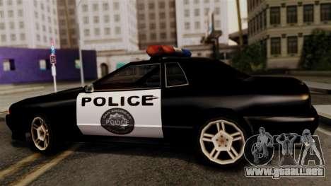 Police Elegy para GTA San Andreas vista posterior izquierda
