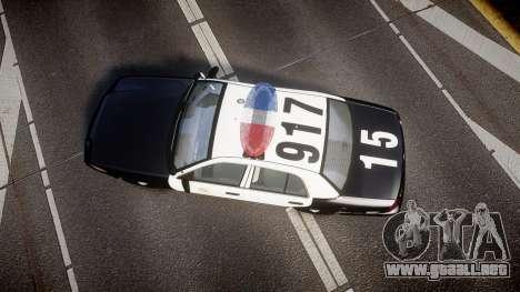 Ford Crown Victoria 2011 LAPD [ELS] rims2 para GTA 4 visión correcta
