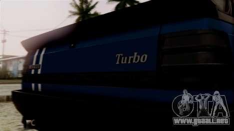 Renault 11 Turbo para GTA San Andreas vista hacia atrás