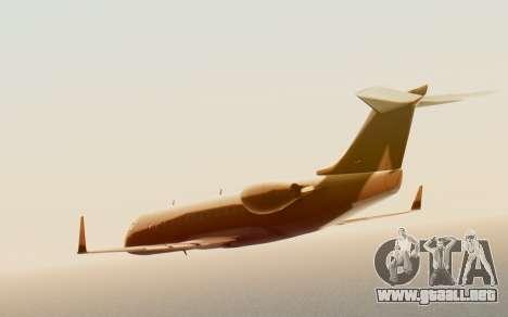 Buckingham Starjet v1.0 para GTA San Andreas vista posterior izquierda