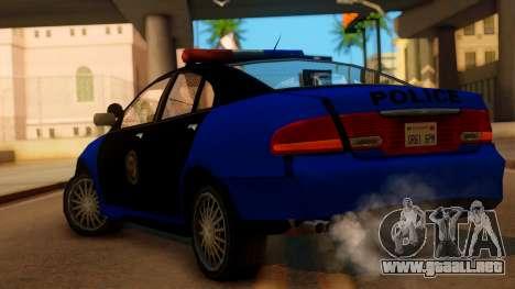 Police HSV VT GTS SA Style para GTA San Andreas left