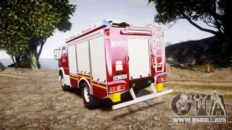 Mercedes-Benz Atego 1530 Firetruck [ELS] para GTA 4 Vista posterior izquierda