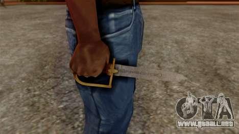 GTA 5 Antique Cavalry Dagger v1 para GTA San Andreas tercera pantalla