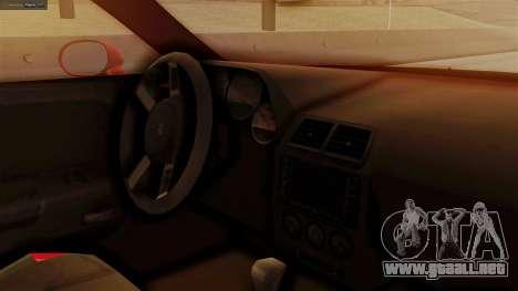 Dodge Challenger SRT8 2009 para la visión correcta GTA San Andreas