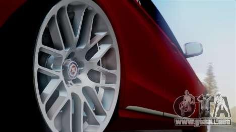 Mercedes-Benz W212 E63 AMG para GTA San Andreas vista posterior izquierda