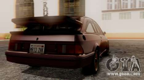 Ford Sierra RS500A para GTA San Andreas left