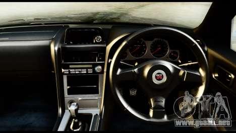 Nissan Skyline GT-R (BNR34) Tuned para la visión correcta GTA San Andreas