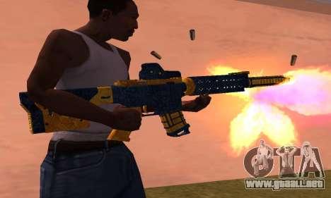 M4 BlueYellow para GTA San Andreas segunda pantalla