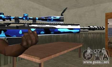 Water Sniper Rifle para GTA San Andreas segunda pantalla
