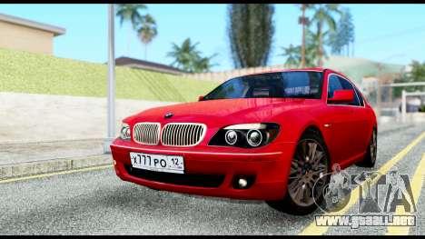 BMW 760Li E66 para GTA San Andreas