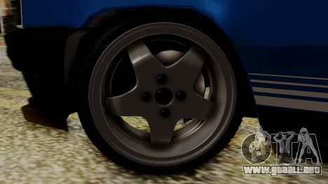 Renault 11 Turbo para GTA San Andreas vista posterior izquierda